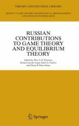 Driessen, Theo S. H. - Russian Contributions to Game Theory and Equilibrium Theory, ebook
