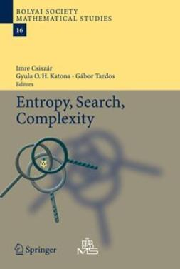 Csiszár, Imre - Entropy, Search, Complexity, ebook
