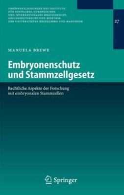 Brewe, Manuela - Embryonenschutz und Stammzellgesetz, ebook