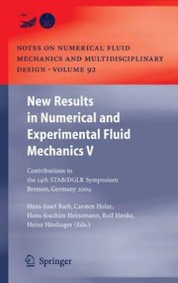 Heinemann, Hans-Joachim - New Results in Numerical and Experimental Fluid Mechanics V, e-kirja