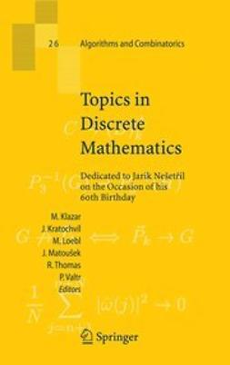 Klazar, Martin - Topics in Discrete Mathematics, ebook