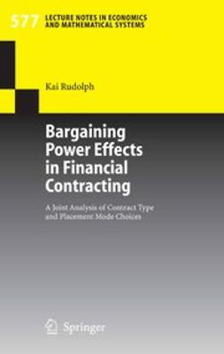 Rudolph, Kai - Bargaining Power Effects in Financial Contracting, ebook