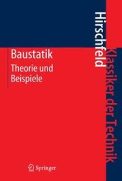 Hirschfeld, Kurt - Baustatik, ebook
