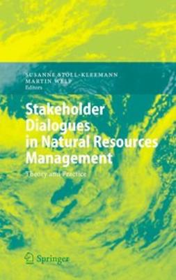 Stollkleemann, Susanne - Stakeholder Dialogues in Natural Resources Management, ebook