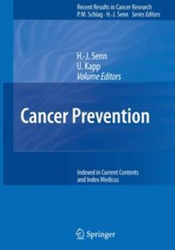 Kapp, Ursula - Cancer Prevention, ebook