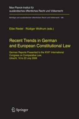 Riedel, Eibe - Recent Trends in German and European Constitutional Law, e-bok