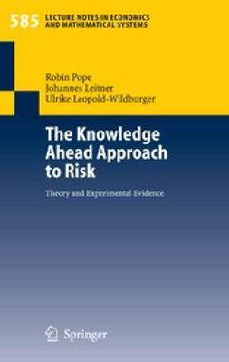 Leitner, Johannes - The Knowledge Ahead Approach to Risk, ebook