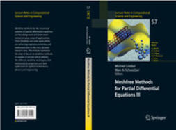 Griebel, Michael - Meshfree Methods for Partial Differential Equations III, e-bok