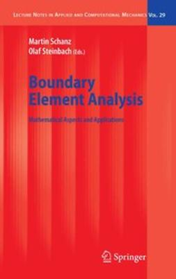 Schanz, Martin - Boundary Element Analysis, ebook
