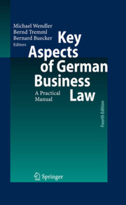 Buecker, Bernard - Key Aspects of German Business Law, e-bok