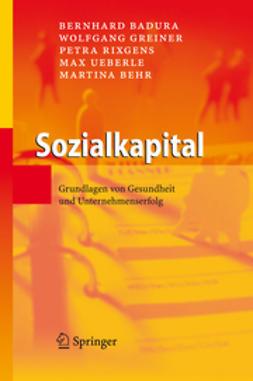 Badura, Bernhard - Sozialkapital, ebook