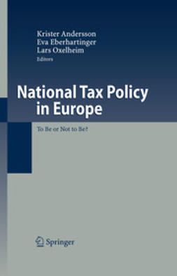 Andersson, Krister - National Tax Policy in Europe, ebook