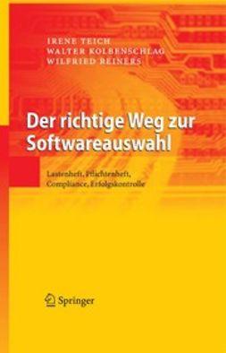 Kolbenschlag, Walter - Der richtige Weg zur Softwareauswahl, ebook