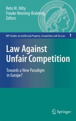 Henning-Bodewig, Frauke - Law Against Unfair Competition, e-bok