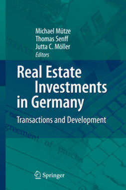Möller, Jutta C. - Real Estate Investments in Germany, ebook