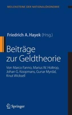 Fanno, Marco - Beiträge zur Geldtheorie, ebook