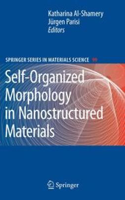 Al-Shamery, Katharina - Self-Organized Morphology in Nanostructured Materials, ebook