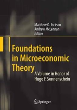 Jackson, Matthew O. - Foundations in Microeconomic Theory, ebook