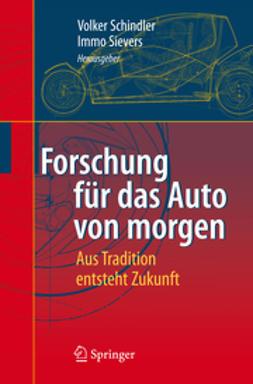 Schindler, Volker - Forschung für das Auto von Morgen, ebook