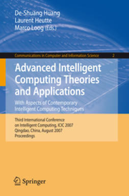Heutte, Laurent - Advanced Intelligent Computing Theories and Applications. With Aspects of Contemporary Intelligent Computing Techniques, e-bok