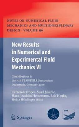 Tropea, Cameron - New Results in Numerical and Experimental Fluid Mechanics VI, ebook