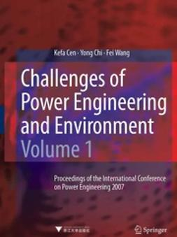 Cen, Kefa - Challenges of Power Engineering and Environment, ebook