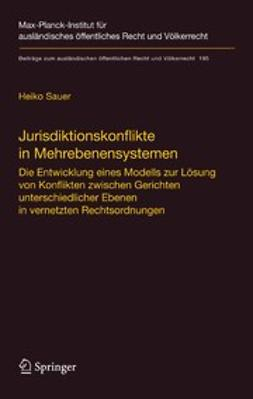 Sauer, Heiko - Jurisdiktionskonflikte in Mehrebenensystemen, ebook