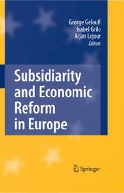 Gelauff, George - Subsidiarity and Economic Reform in Europe, ebook