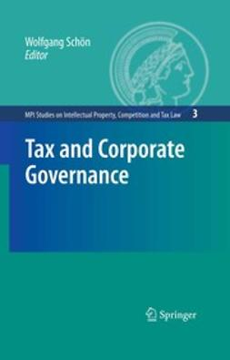 Schön, Wolfgang - Tax and Corporate Governance, ebook