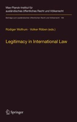 Röben, Volker - Legitimacy in International Law, e-kirja