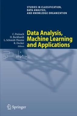 Burkhardt, Hans - Data Analysis, Machine Learning and Applications, e-bok