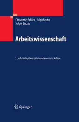 Schlick, Christopher M. - Arbeitswissenschaft, ebook