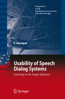 Hempel, Thomas - Usability of Speech Dialog Systems, ebook