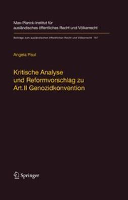 Kritische Analyse und Reformvorschlag zu Art. II Genozidkonvention