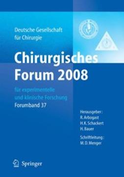 Arbogast, R. - Chirurgisches Forum 2008, ebook