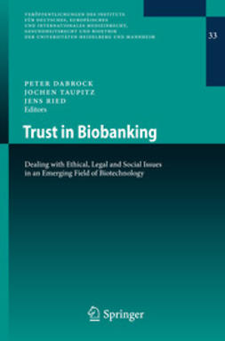 Dabrock, Peter - Trust in Biobanking, ebook