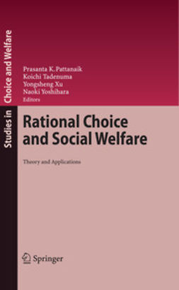 Pattanaik, Prasanta K. - Rational Choice and Social Welfare, e-kirja