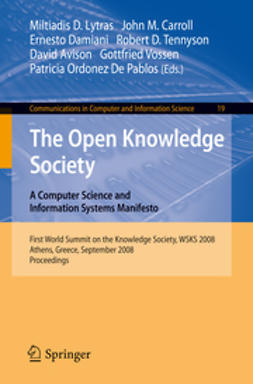 Avison, David - The Open Knowlege Society. A Computer Science and Information Systems Manifesto, e-kirja