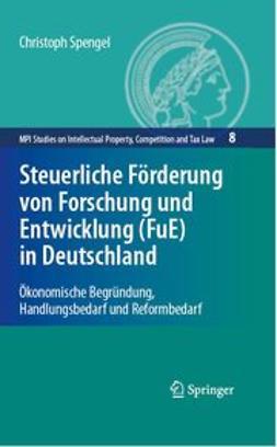 - Steuerliche Förderung von Forschung und Entwicklung (FuE) in Deutschland, ebook