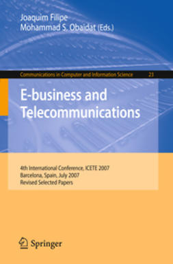 Filipe, Joaquim - E-business and Telecommunications, ebook