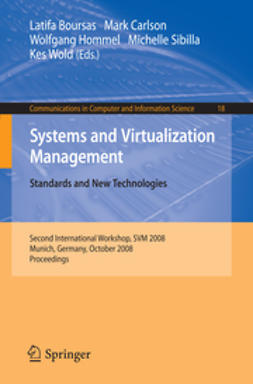 Boursas, Latifa - Systems and Virtualization Management. Standards and New Technologies, ebook