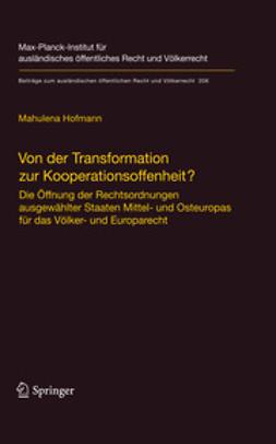 Hofmann, Mahulena - Von der Transformation zur Kooperationsoffenheit?, ebook