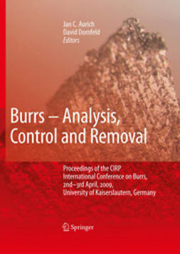 Aurich, Jan C. - Burrs - Analysis, Control and Removal, ebook