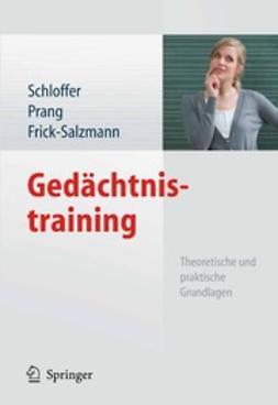 Schloffer, Helga - Gedächtnistraining, ebook