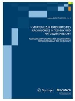 - Strategie zur Förderung des Nachwuchses in Technik und Naturwissenschaft, ebook