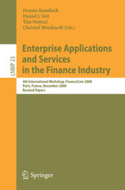 Kundisch, Dennis - Enterprise Applications and Services in the Finance Industry, e-bok