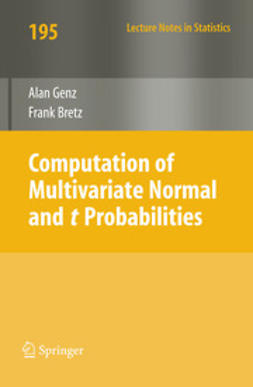 Genz, Alan - Computation of Multivariate Normal and t Probabilities, ebook