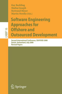 Berkling, Kay - Software Engineering Approaches for Offshore and Outsourced Development, ebook