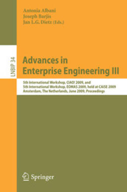 Albani, Antonia - Advances in Enterprise Engineering III, e-bok