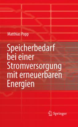 Popp, Matthias - Speicherbedarf bei einer Stromversorgung mit erneuerbaren Energien, ebook